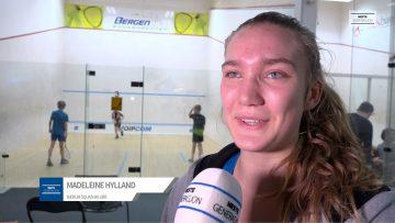 Madeleine Hylland og Lotte Eriksen – Bergen Open Squash
